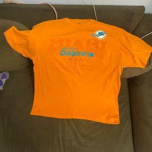 NFL Miami Dolphin tee shirt Orange